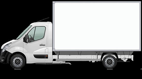 Movano Fahrgestell Normalkabine mit Kofferaufbau